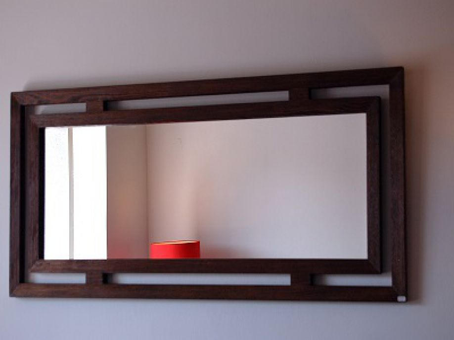 Espejo madera rectangular for Espejos de pared vintage
